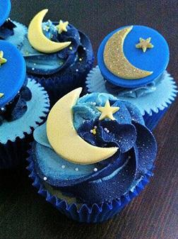 Deep Blue Eid Dozen Cupcakes