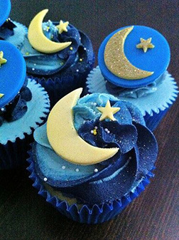 Deep Blue Eid Half Dozen Cupcakes