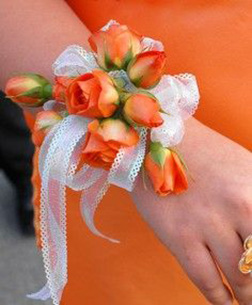 Orange Skies Corsage