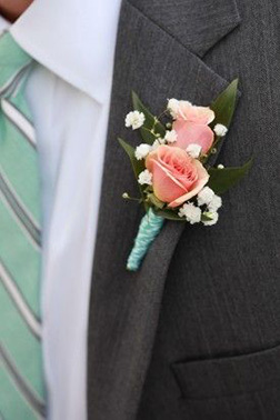 Lion heart Boutonniere