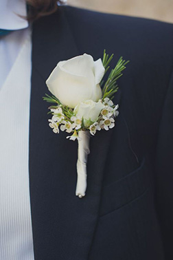 True To The Heart Boutonniere