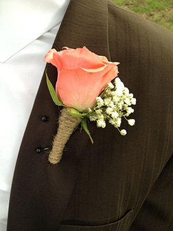 Pure Passion Boutonniere