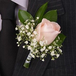Suave Serenity Boutonniere