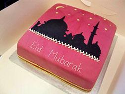 Eid Mosque Silhouette Cake