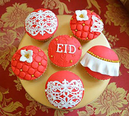 Majestic Red Eid Cupcakes