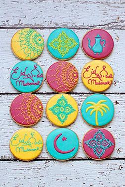 Colors of Eid Cookies