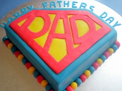 Superdad Father's Day Cake