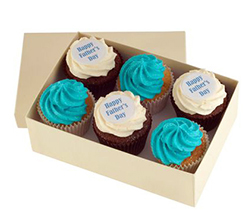 Father's Day Message Cupcakes