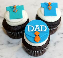 Dad's Favorite Shirts Cupcakes