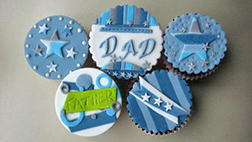 All Star Dad Cupcakes