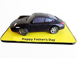 Dad's Black Porsche Cake