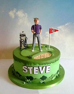 Pro Golfer Father's Day Cake