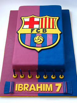 Colors of FC Barecelona Cake