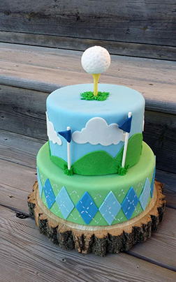 Tee Off Father's Day Cake