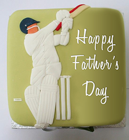 Star Cricketer Father's Day Cake