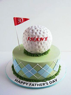 Golf Ball Father's Day Cake