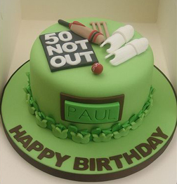 Cricket Legend Cake