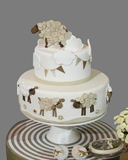 Joyous Eid Sheep Cake