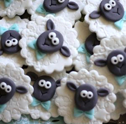 Classy Sheep Cookies