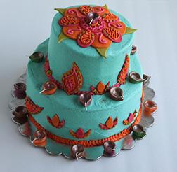Grand Diwali Tiered Cake