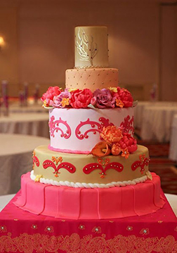 Diwali Banquet Tiered Cake