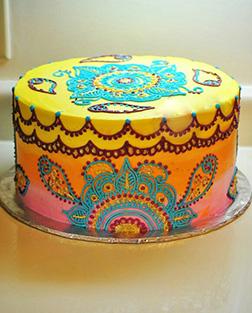 Vivid Colors Diwali Cake
