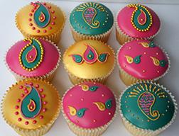 Joyful Diwali Cupcakes