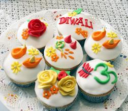 Peace & Love Diwali Cupcakes