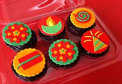 Diwali Pooja Cupcakes
