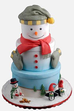 Winter Friends Christmas Cake