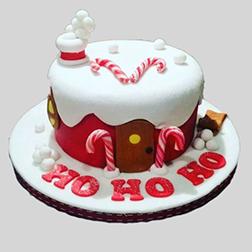 Ho Ho Ho Frosty Christmas Cake