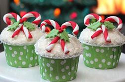 Candy Canes - Dozen Cupcakes