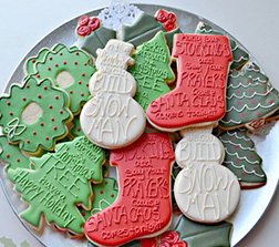 Christmas Greetings Cookies