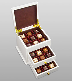 White Luxe Cabinet By Annabelle Chocolates