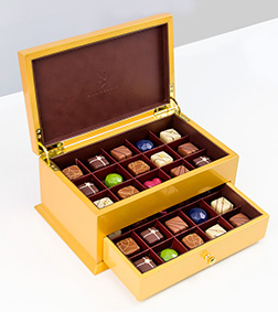 Gold Deluxe Cabinet By Annabelle Chocolate