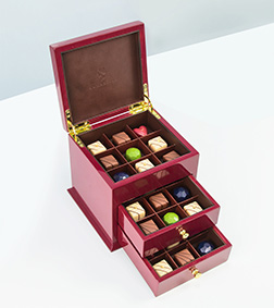 Red Luxe Cabinet By Annabelle Chocolates
