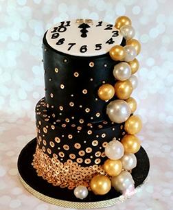 Countdown & Bubbles Cake