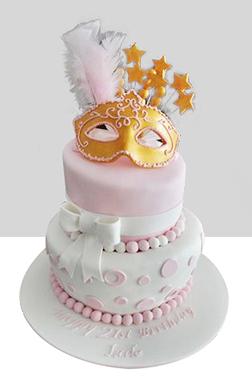 Baby Pink Masquerade Cake