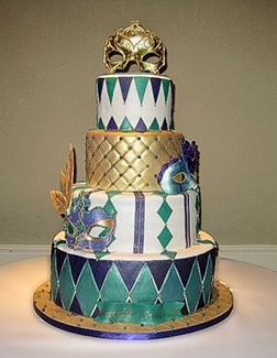 Green Diamond Masquerade Cake