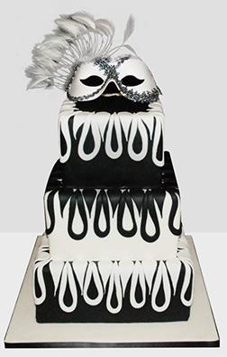 Dark & Mysterious Masquerade cake