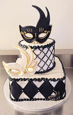 Two-of-a-Kind Masquerade Cake