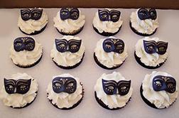 Black Masks Dozen Cupcakes