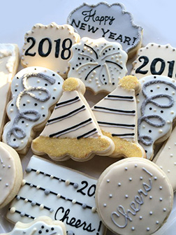 New Year Party Cookies