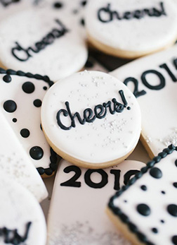 Cheers to the New Year Cookies