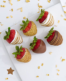 New Year Glamour Dipped Strawberries