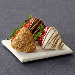 Gold Sparkle Dipped Strawberries