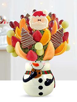 Sweetest Snowman Fruit Bouquet