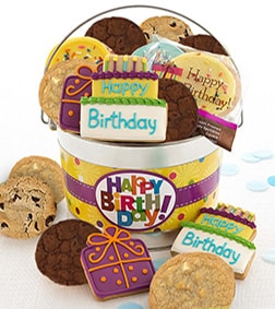 Happy Birthday Frosted & Crunchy Cookie Pail