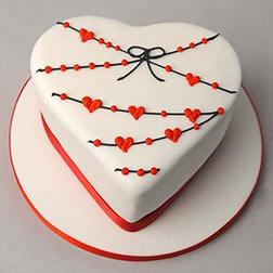 Heart Strings Love Cake