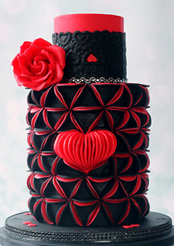 Legendary Love Tiered Cake